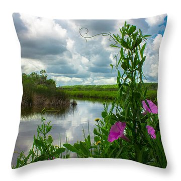 Throw Pillow featuring the photograph Landscaped by Tyson Kinnison