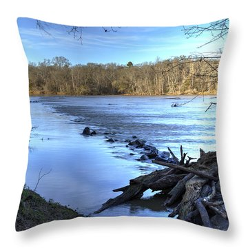 Landsford Canal-1 Throw Pillow by Charles Hite