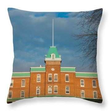 Lane Hall At Virginia Tech Throw Pillow