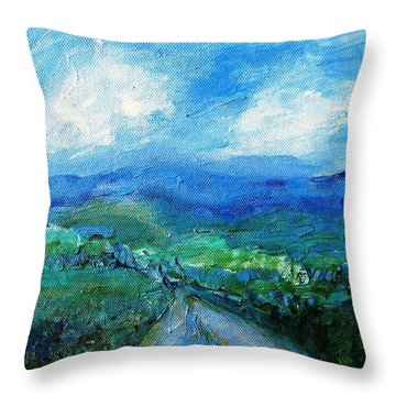 Lane To The Wicklow Hills Throw Pillow