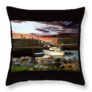 Lanes Cove Gloucester Throw Pillow by Eileen Patten Oliver