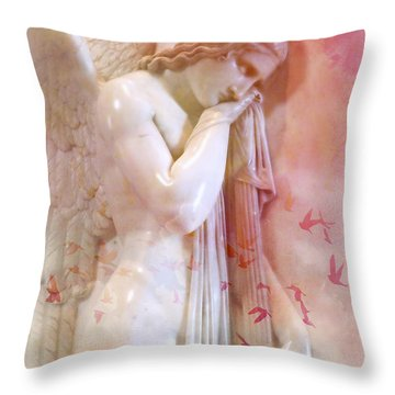 L'angelo Celeste Throw Pillow