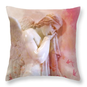 L'angelo Celeste Throw Pillow by Micki Findlay