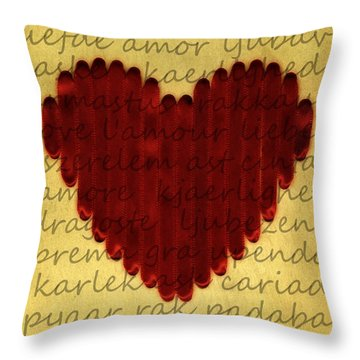 Languages Of Love Throw Pillow