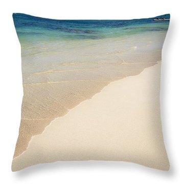 Lanikai And Mokulua Islands Throw Pillow by Brandon Tabiolo