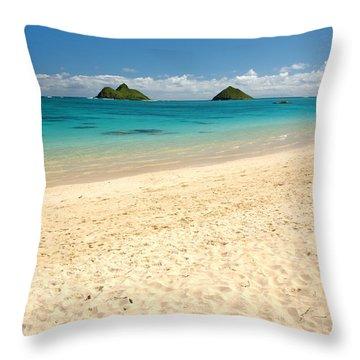 Lanikai Beach 2 - Oahu Hawaii Throw Pillow by Brian Harig
