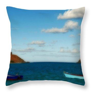 Throw Pillow featuring the photograph Lanikai Beach by Caroline Stella