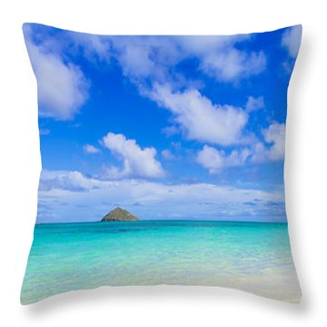 Lanikai Beach Tranquility 3 To 1 Aspect Ratio Throw Pillow