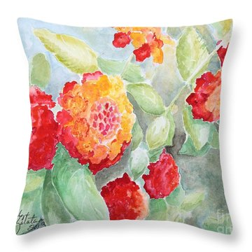 Lantana II Throw Pillow