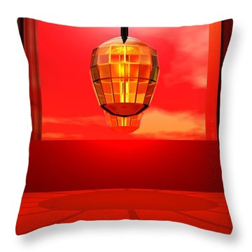 Lantern Light Throw Pillow by John Pangia