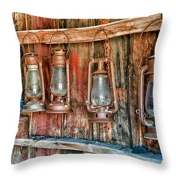 Lanterns Throw Pillow by Cat Connor