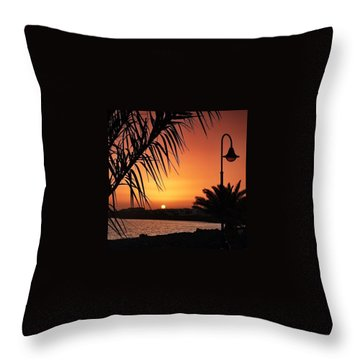 Lanzarote Sunset Throw Pillow by Phil Tomlinson
