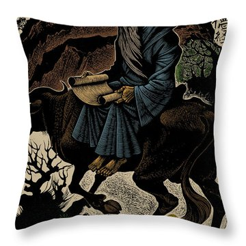 Throw Pillow featuring the photograph Laozi, Ancient Chinese Philosopher by Science Source