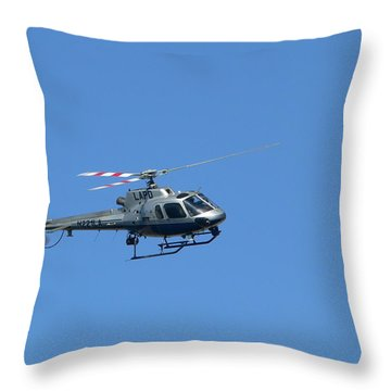 Lapd Helicopter Throw Pillow