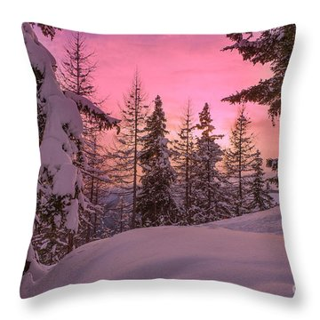 Lapland Sunset Throw Pillow