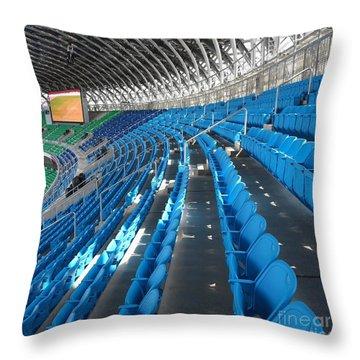 Large Modern Sports Facility Throw Pillow by Yali Shi