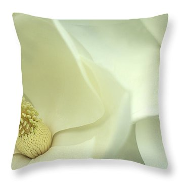 Throw Pillow featuring the photograph Large White Magnolias by Suzanne Powers