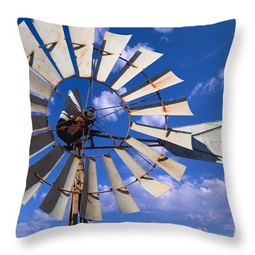 Large Windmill Throw Pillow