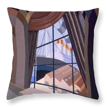 Large Window With A Seat, From Relais Throw Pillow