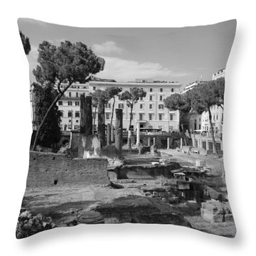 Largo Di Torre - Roma Throw Pillow by Dany Lison