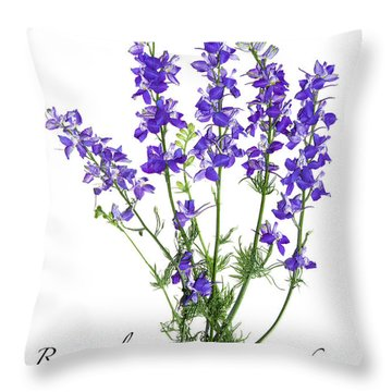 Larkspur Bouquet Throw Pillow