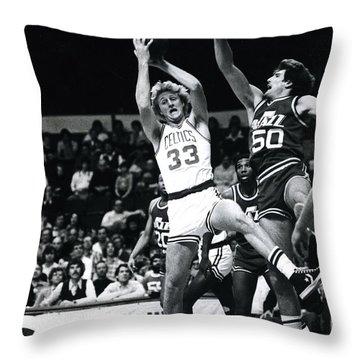 Larry Bird Throw Pillows