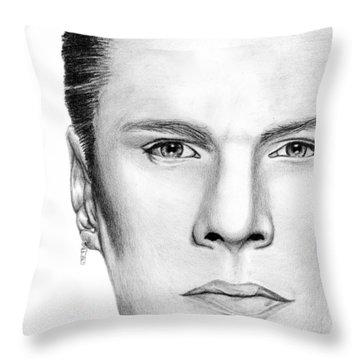 Larry Mullen Jr. Throw Pillow by Kayleigh Semeniuk