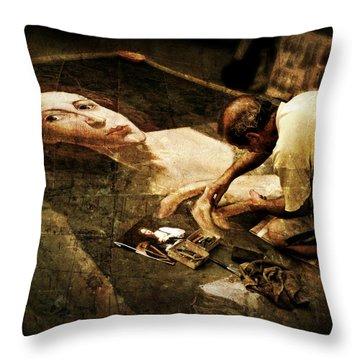 L'artista Di Strada Throw Pillow