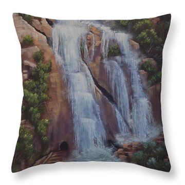 Las Brisas Falls Huatuco Mexico Throw Pillow