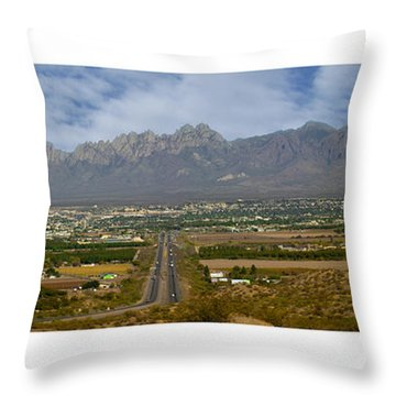 Las Cruces New Mexico Panorama Throw Pillow