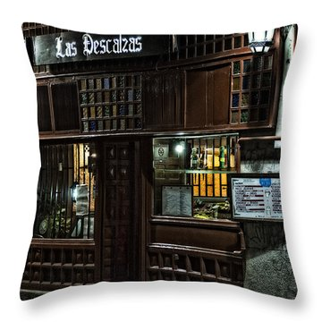 Las Descalzas - Madrid Throw Pillow by Mary Machare