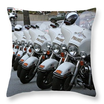 Throw Pillow featuring the photograph La's Finest by Shoal Hollingsworth