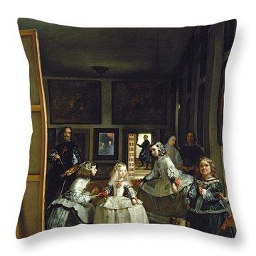 Las Meninas Or The Family Of Philip Iv, C.1656  Throw Pillow