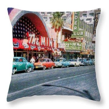 Las Vegas 1959 Throw Pillow