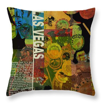 Las Vegas Compilation Throw Pillow by Corporate Art Task Force