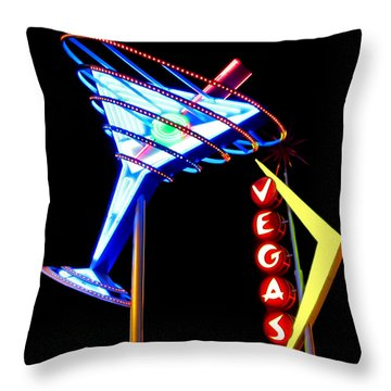 Las Vegas Neon Signs Throw Pillow
