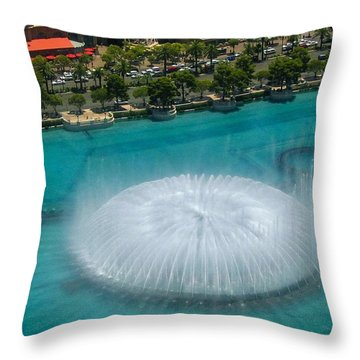 Throw Pillow featuring the photograph Las Vegas Orb by Angela J Wright