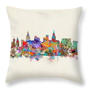 Las Vegas Skyline Throw Pillow