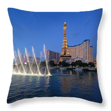 Throw Pillow featuring the photograph Las Vegas Skyline by Martin Konopacki