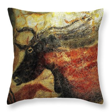 Throw Pillow featuring the photograph Lascaux II Number 2 - Horizontal by Jacqueline M Lewis