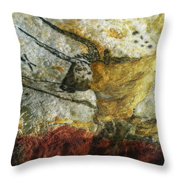 Lascaux II Number 3 - Vertical Throw Pillow