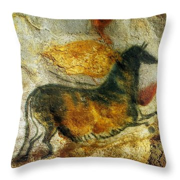 Throw Pillow featuring the photograph Lascaux II Number 4 - Vertical by Jacqueline M Lewis