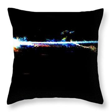 Laser Beam Throw Pillow