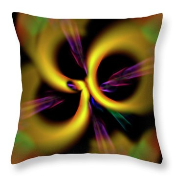 Laser Lights Abstract Throw Pillow by Carolyn Marshall