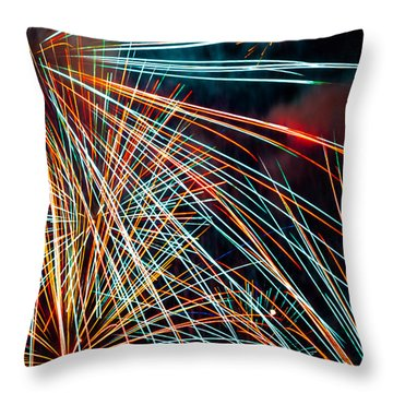 Lasers Throw Pillow