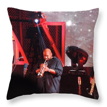 Lashawn Ross And Jeff Coffen Throw Pillow by Aaron Martens