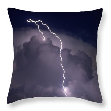 Throw Pillow featuring the photograph Lashing Out by Charlotte Schafer