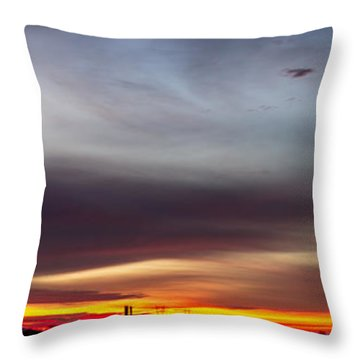 Last 2012 Sunrise Panoramic Throw Pillow