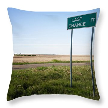 Last Chance Colorado Throw Pillow by Mary Lee Dereske