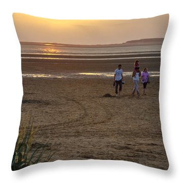 Last Colourful Days Of Summer Throw Pillow